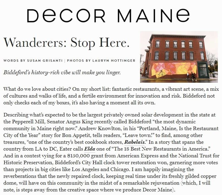 Decor Maine Blog Piece
