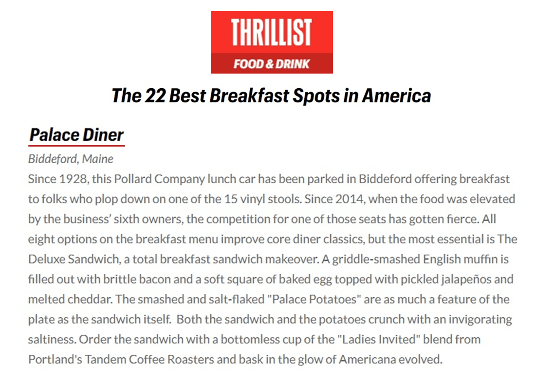 Thrillist best breakfast spot article