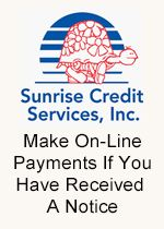 Sunrise Credit Services - Make Online Payments if You Received a Notice