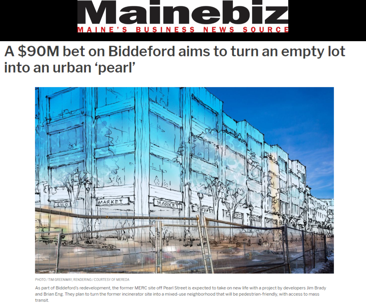 Mainebiz 3 Lincoln Street Article